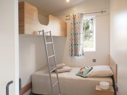 Gamme confort PMR, capacité 4-6 personnes, 2 chambres + 1 canapé convertible